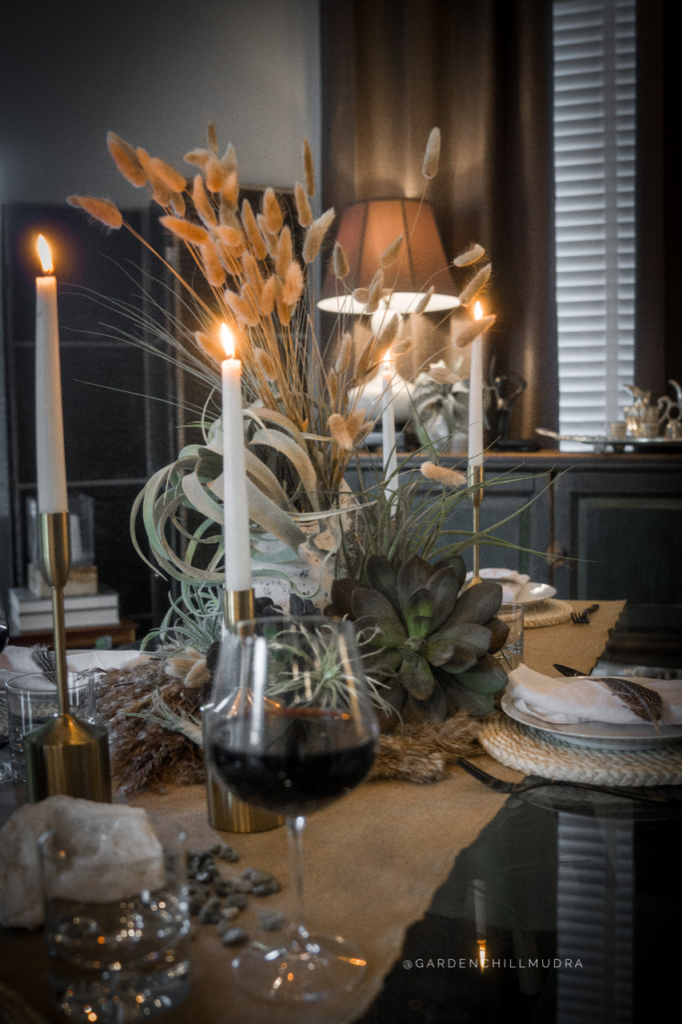 How to Create a stunning tablescape as a designer 1.  Create height with plants to add focus
