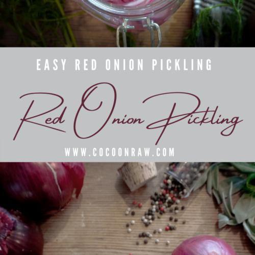 Red Onion Pickling Preparation