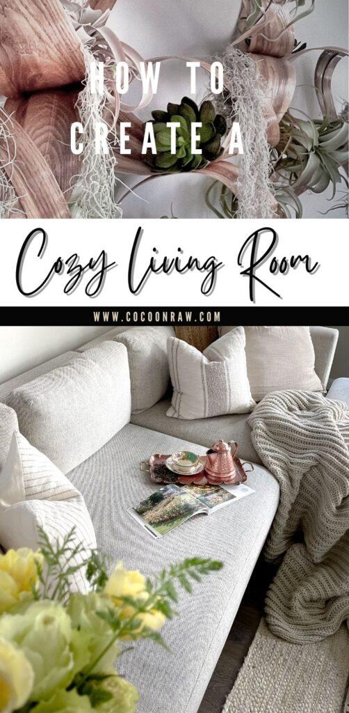 Cozy Living Room Pin of sofa