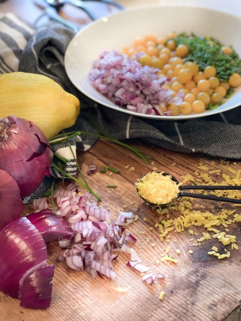 Ground Cherry Salad Ingredients